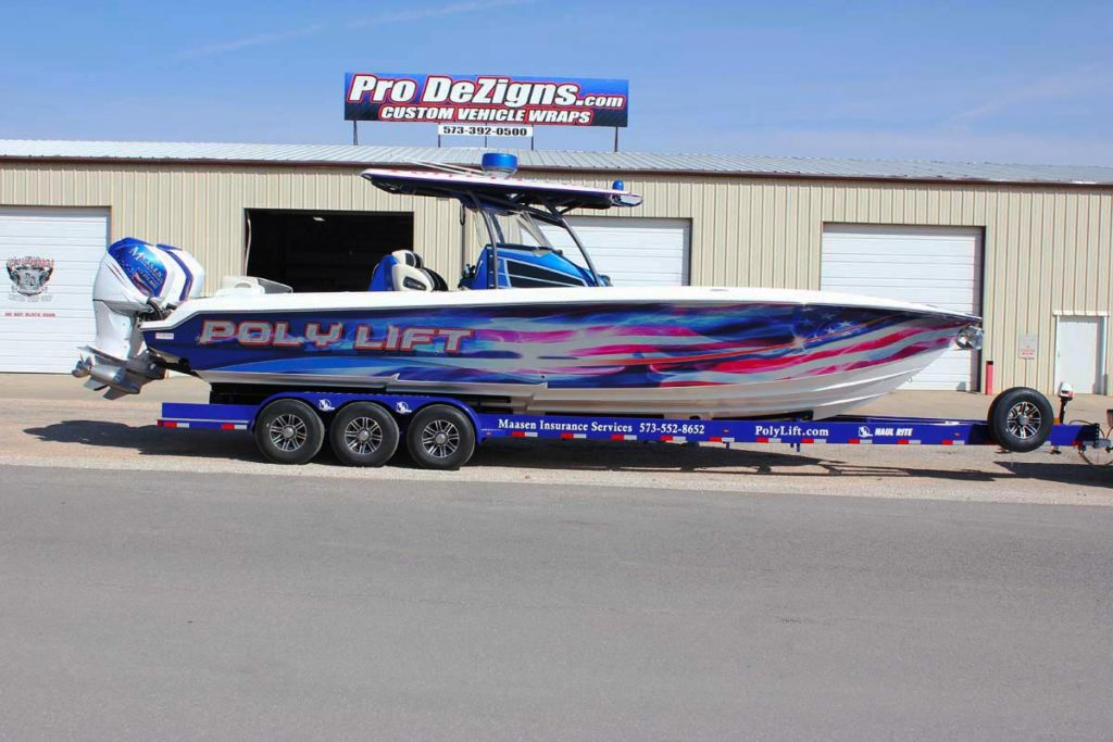 poly lift boat wrap