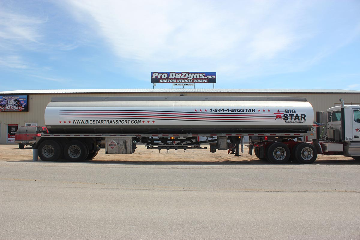Big Star tanker wrap