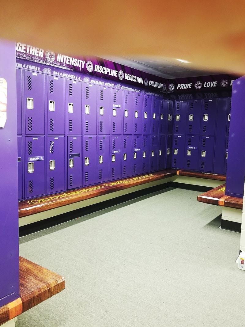 locker room wall wrap
