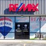 Remax store front vinyl wrap
