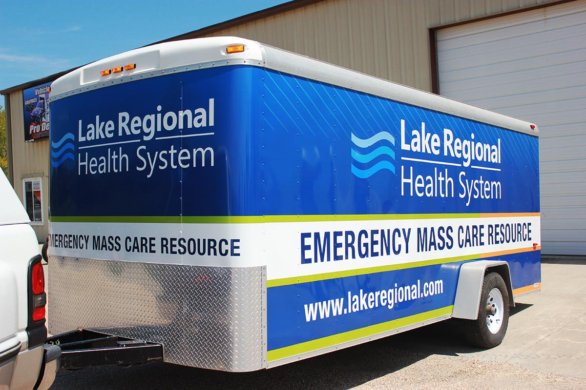 Lake Regional Health System Trailer Wrap