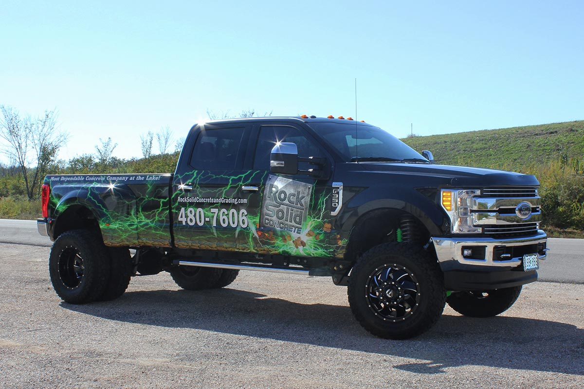 Pick-up truck wrap