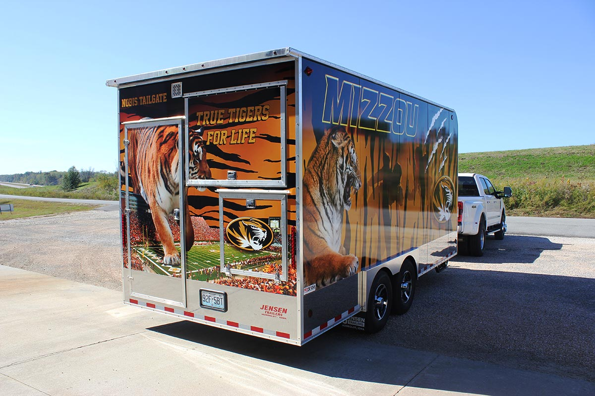 Mizzou wrapped trailer