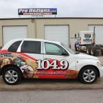 104.9 Classic Country car wrap