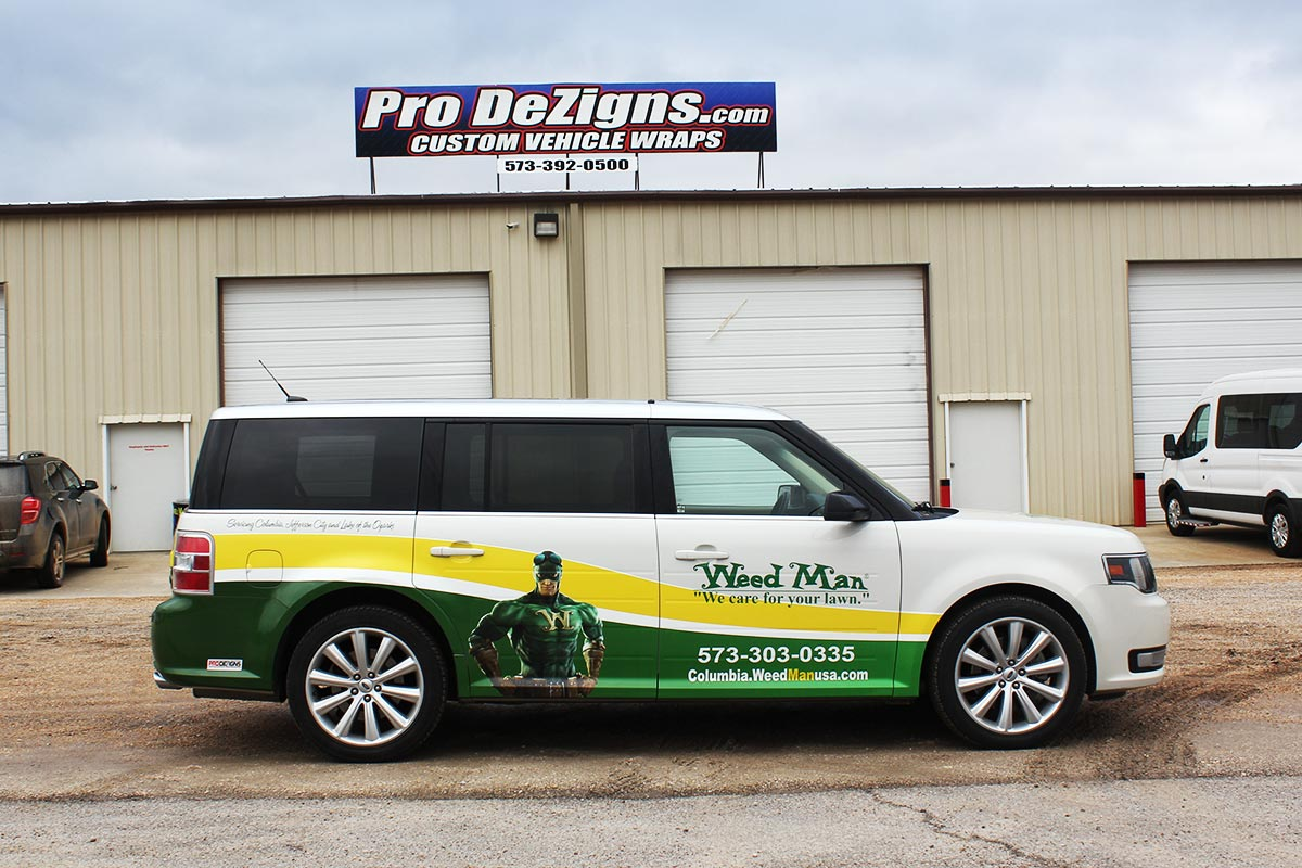 Weed Man Vehicle wrap