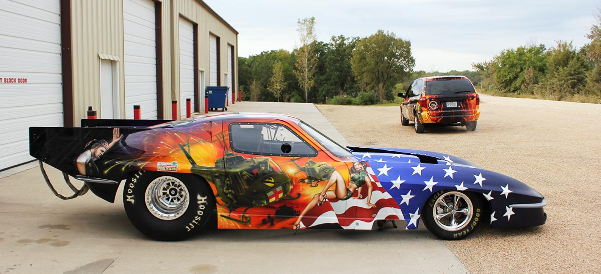 race car wrap