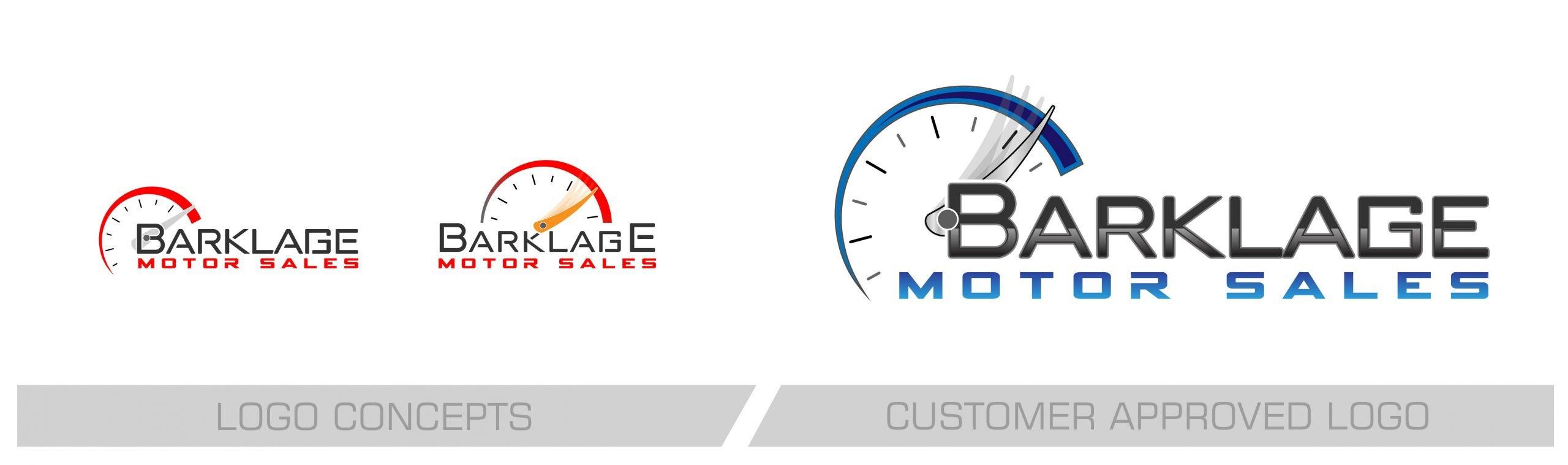 Barklage Motor Sales Logo Redesign