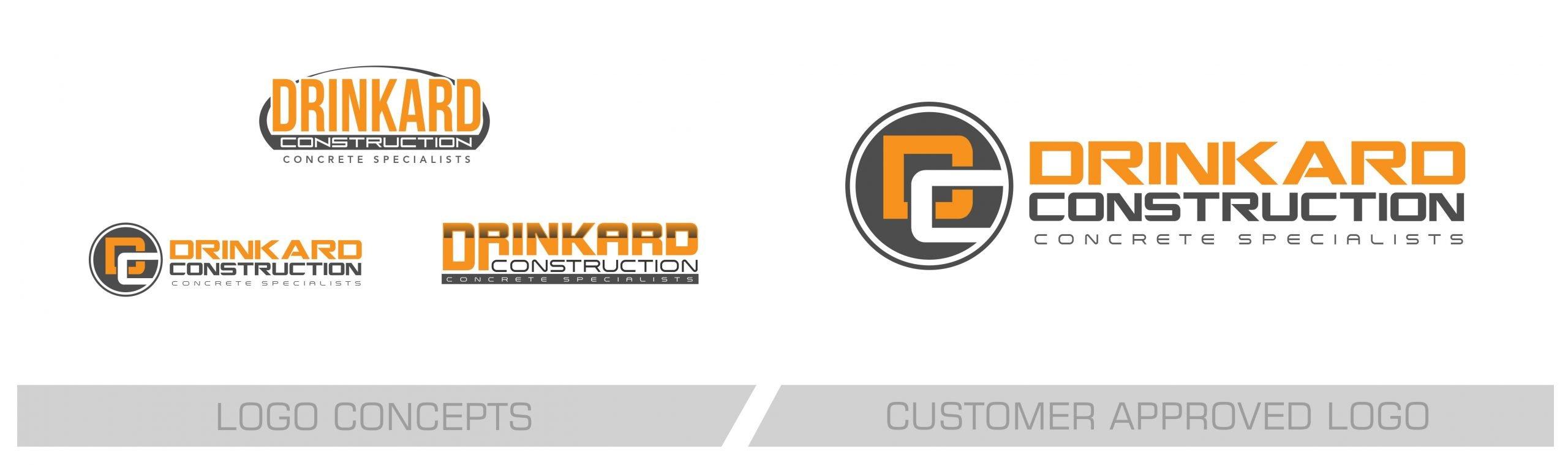 Drinkard Construction Logo Design