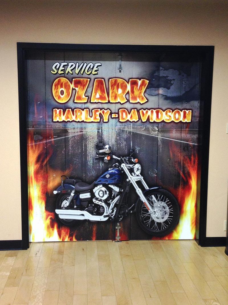 Ozark Harley Davidson wall wrap