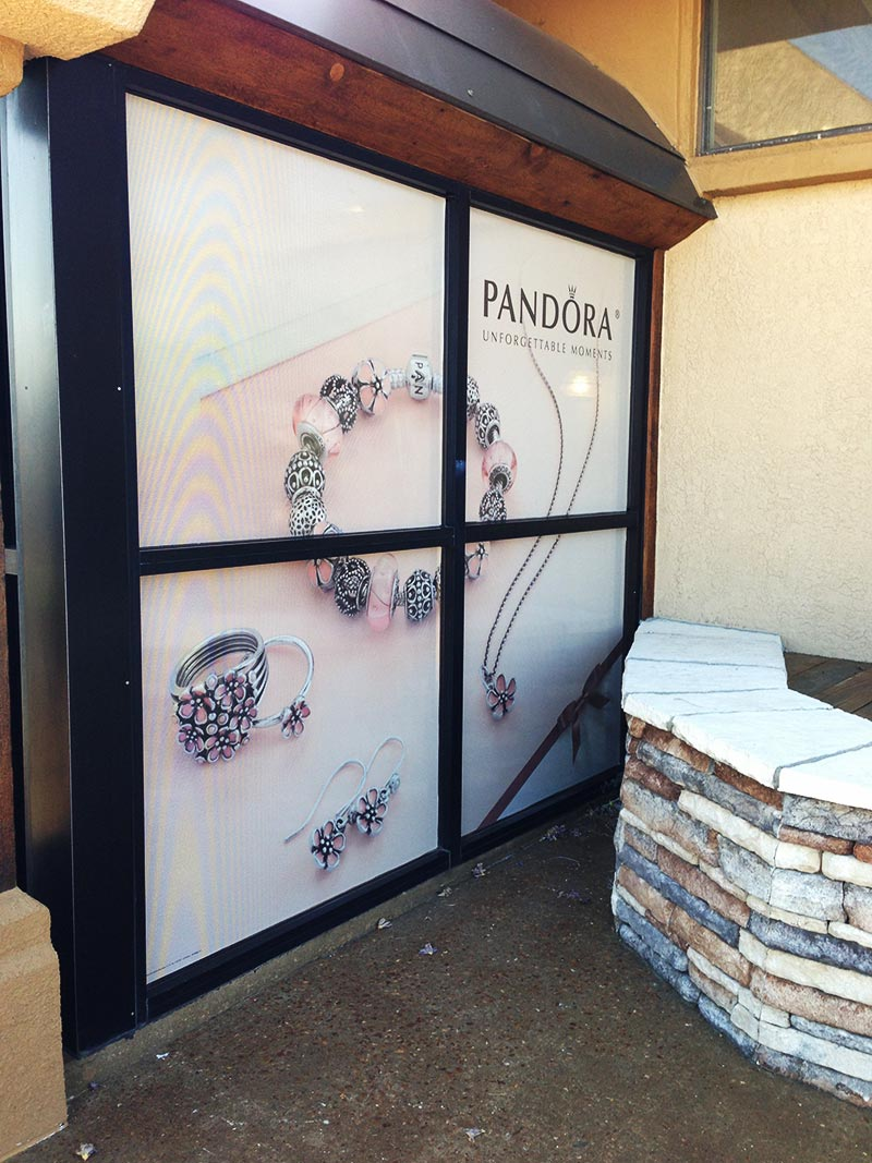 Pandora vinyl window wrap